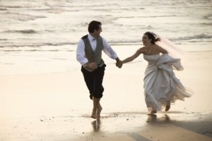 Marry Caribbean - Couple Running on the Beach