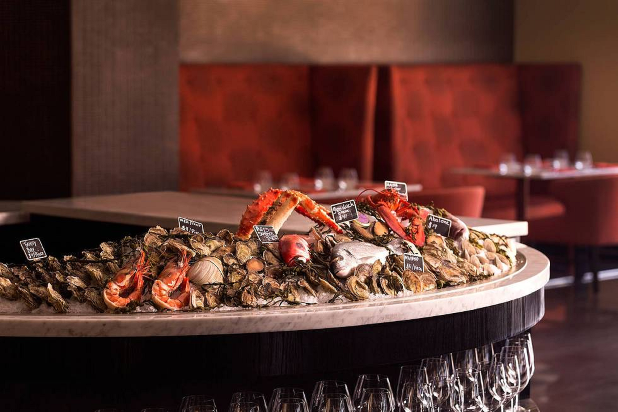Aruba Ritz Carlton Raw Bar, Les Crustaces. Ritz Carlton