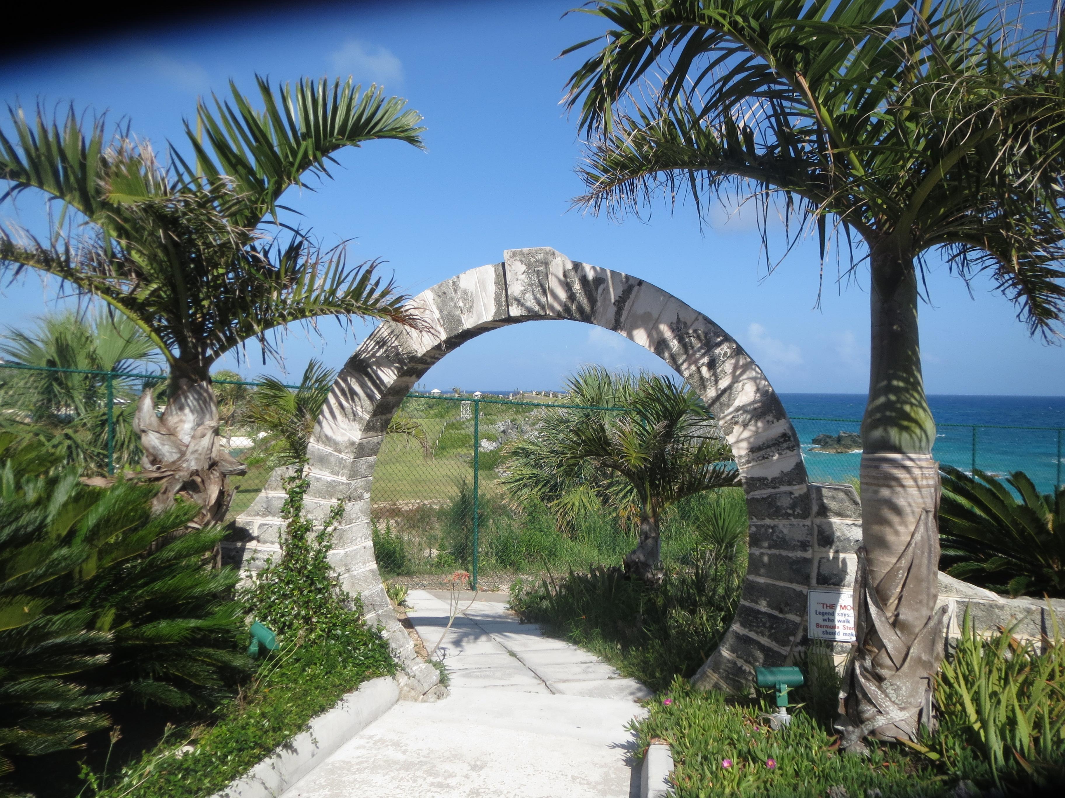 Bermuda Moon gate Palm Grove Gardens. Photo Credit Melanie Reffes.